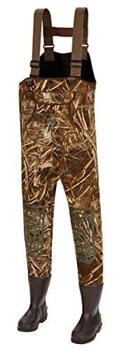 ArcticShield 3.5mm Neoprene Chest Wader, Realtree Max, Size 9  https://fishingrodsreelsandgear.com/product/arcticshield-3-5mm-neoprene-chest-wader-realtree-max-size-9/  Retain patented heat retention technology in boots for added warmth 3.5mm neoprene construction Adjustable h-style suspenders with recessed buckles Convert to a belt