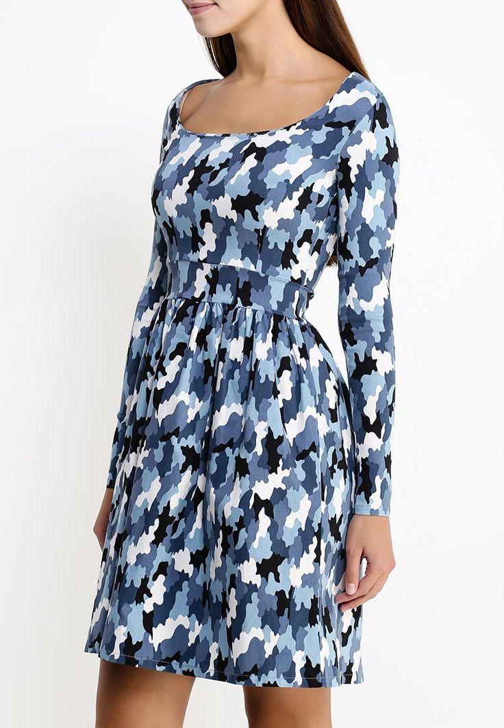Приталенное голубое камуфляжное платье с длинным рукавом http://fas.st/Gx_qU