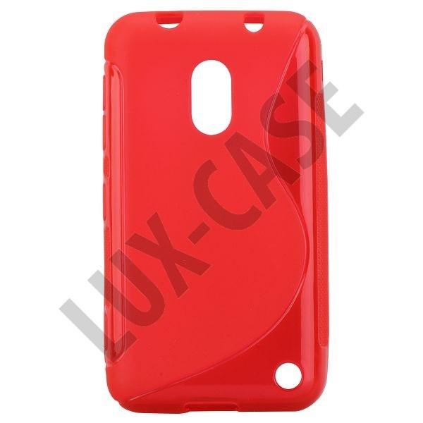 S-Line Transparent (Rød) Nokia Lumia 620 Deksel