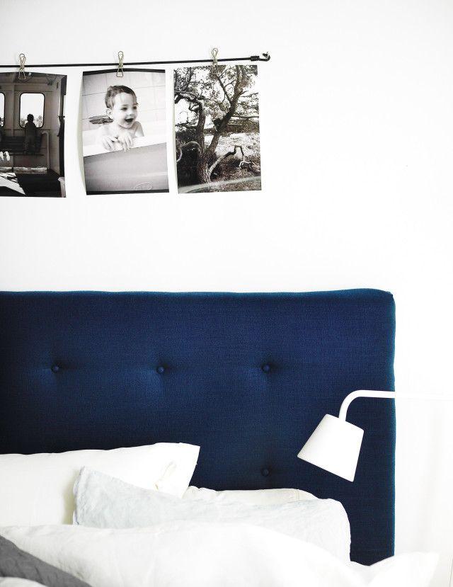 Beskrivning på vadderad sänggavel. Diy