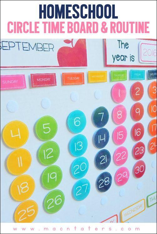 Homeschool Circle Time Board