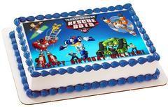 Transformers Rescue Bots 1 Edible Birthday Cake Topper OR Cupcake Topper, Decor