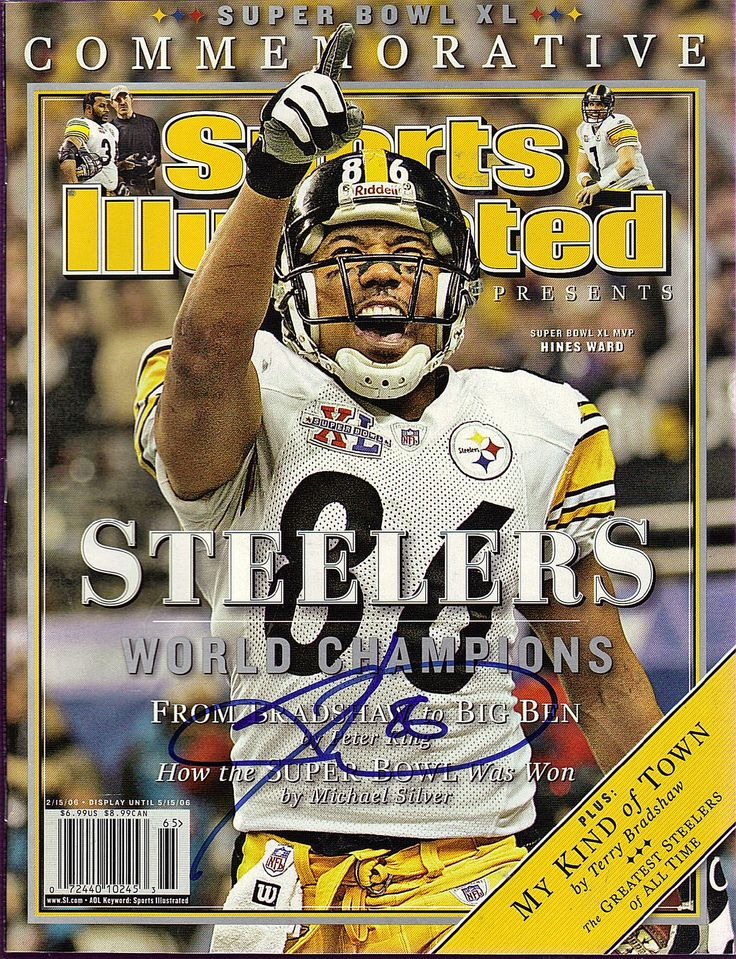 ea4b92f0f33 ... VanguraVanguraee HINES WARD SIGNED SPORTS ILLUSTRATED 21506 HINES WARD  8x10 ACTION PHOTO Photofile NFL Picture PITTSBURGH STEELERS ...