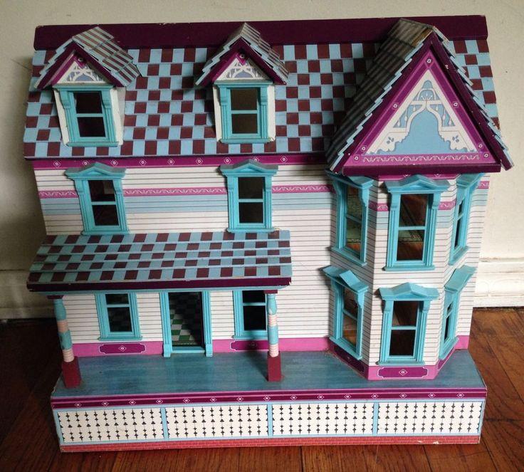 Melissa u0026 Doug Victorian Wood Dollhouse doll