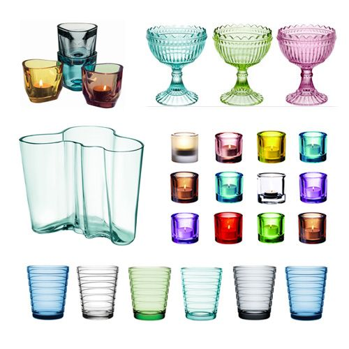 Iittala - Aalto Collection. Can never get enough of colored glass pieces
