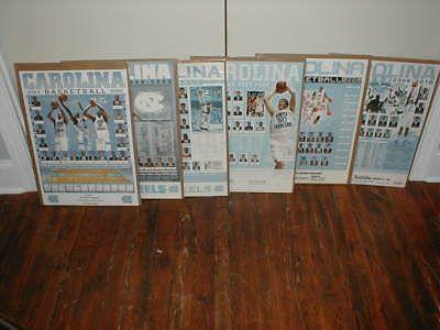 12 1997-2010 UNC University of North Carolina Tarheels schedule posters used lot