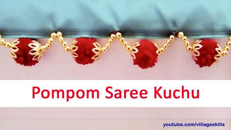 How to make yarn pom pom ILatest saree kuchu pom pom,saree kuchu with po...