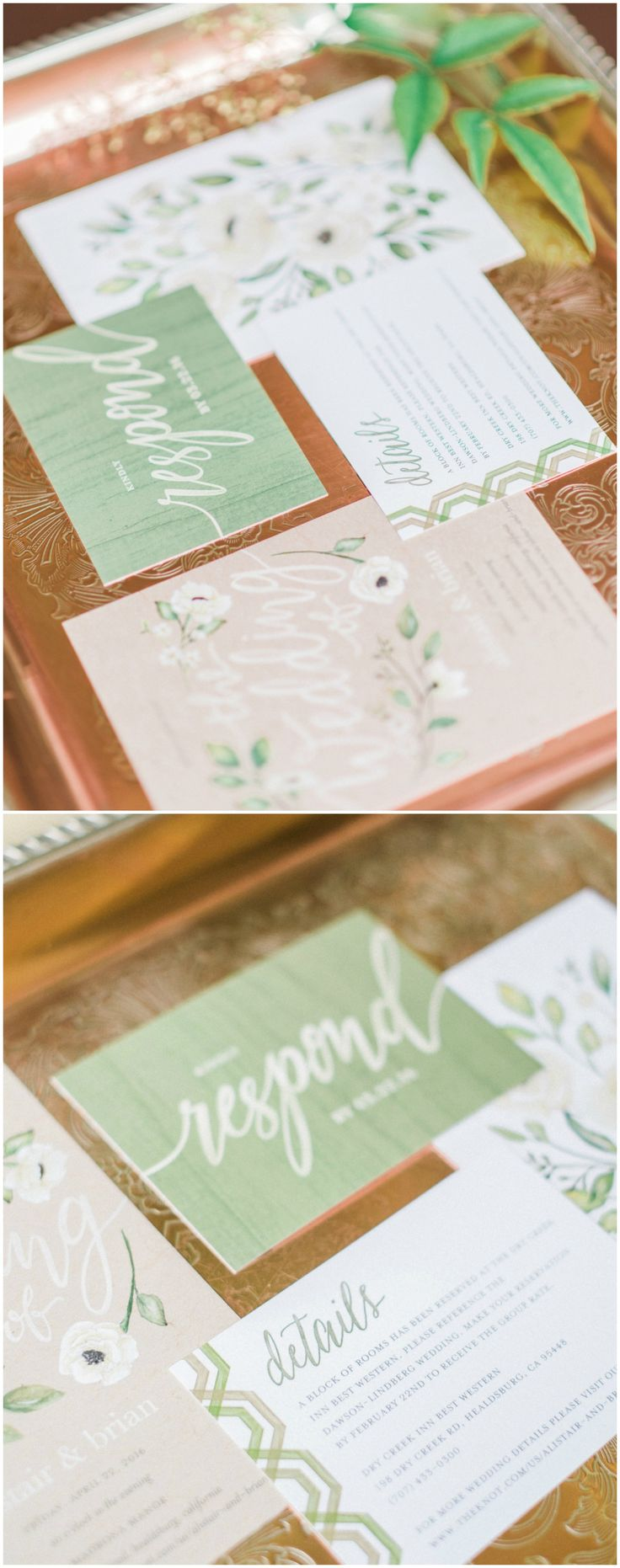 Soft Al Fresco Nuptials In California   Healdsburg, CA. Spring Wedding  InvitationsColored PaperSpring ...