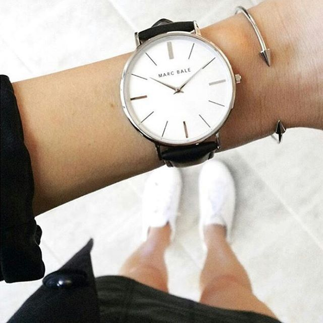 Wrist game on point! Classic styling of our MarcBale Silver Black Leather timepiece and ThePeachBox bangle by @fromluxewithlove! @marcbaleofficial @thepeachbox #marcbale #marcbalelaunch #thepeachbox #aztecwarriorbangle #styleonpoint #silverandblack