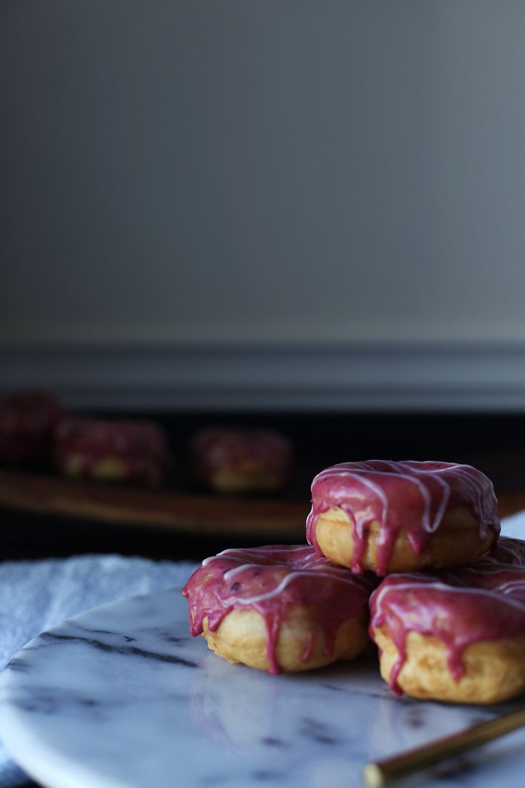Marion Berry Basil Donuts