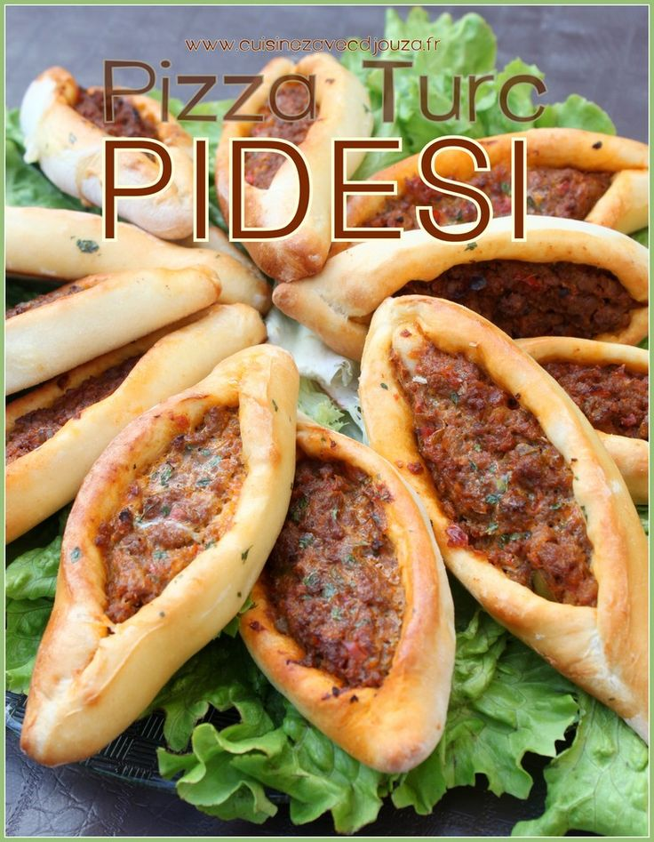 Pidesi pizza turque