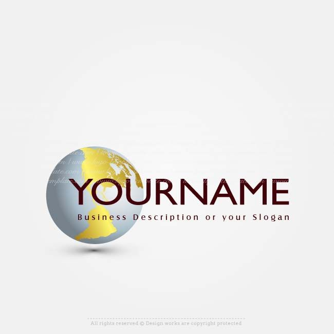 Create a logo simple globe logo template create your for Draw your own logo free online