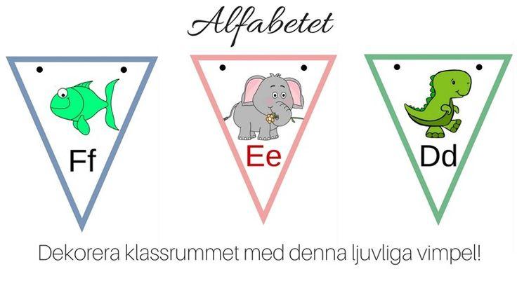 ´Nu kommer här första alfabetet med bilder. Ett enkelt med vokalerna som är rödmarkerade och en enkel, tydlig bild. Hoppas att ni gillar det. Det gör jag. Enjo