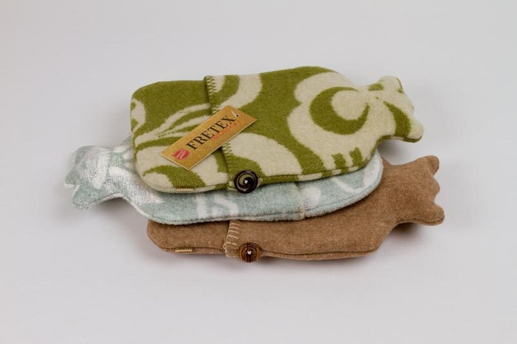 Fretex Redesign. Hot water bottles from recycled wool blankets