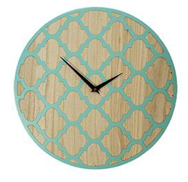 This listing is for a large wooden wall clock.