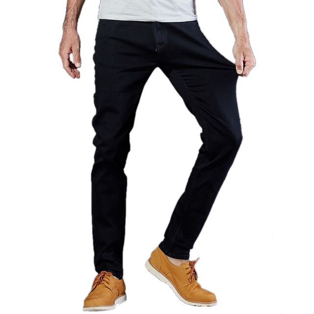 Fair price New Men Designer Pencil Stretch Denim Pants Male Vintage Style Brand Slim Black Jeans Homme Middle Waist Biker Leisure Trousers just only $22.87 - 27.99 with free shipping worldwide  #jeansformen Plese click on picture to see our special price for you