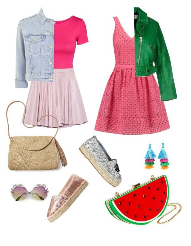 """Summer in Pink"" by rainbowfra on Polyvore featuring Marco Tozzi, 2NDDAY, Topshop, Maje, Mar y Sol, Acne Studios and Chiara Ferragni"