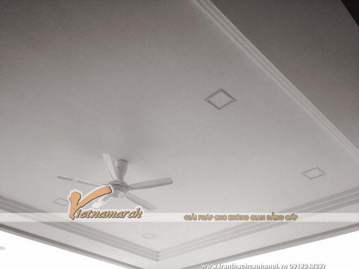 Hoàn thiện trần thạch cao phòng ngủ cho nhà chị Tâm ở Khương Đình - Thanh Xuân 1