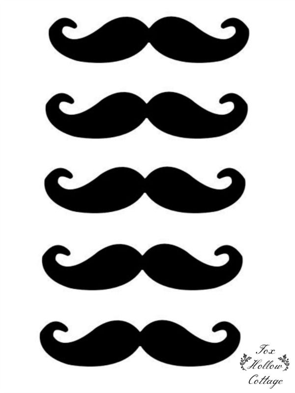 Free Lip and Mustache Printables: Photo Booth Props - Fox Hollow Cottage