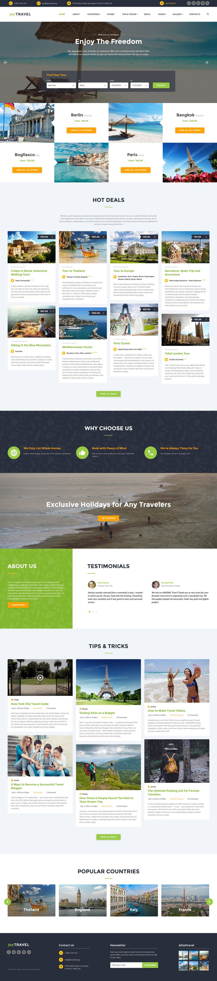 Travel Agency Responsive Website Template http://www.templatemonster.com/website-templates/travel-agency-responsive-website-template-60026.html