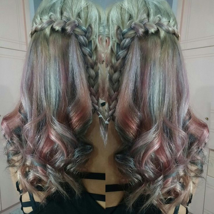 Nice colour ombre passion igora schwartzkopf pink grey lavender hair braids summer 2016 pearlescence