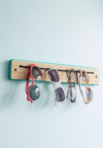 Try Every Dangle Rack - Blue, Dorm Decor, Colorblocking, Minimal, Tan / Cream