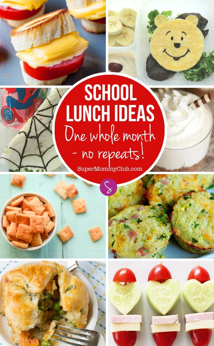 My kids are bored of sandwiches so I love that there is one whole month's worth of school lunch ideas here!