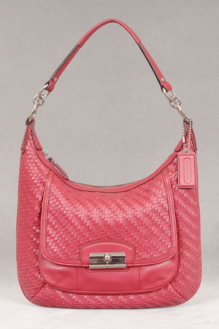 coach leather handbags outlet d7r0  Coach Leather Bag In Scarlet