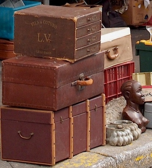Ohhh Louis V!!!! Love that - Paris Flea market from The Paris Apartment - LOVE Paris Flea markets and LOVE this blog!
