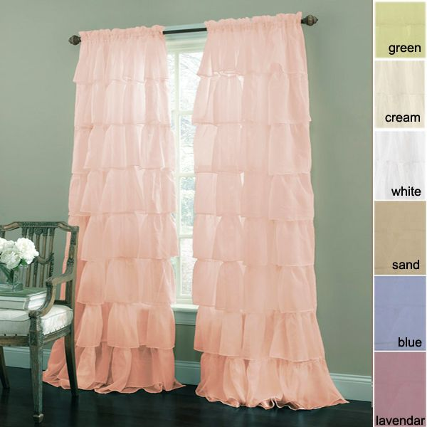 Shabby Chic Curtains - Gypsy Ruffled Curtains