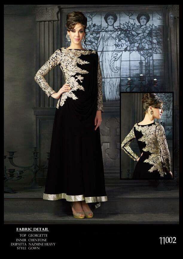 Latest Stylish Designer Suits | Buy designer salwars at online | Elegant Fashion Wear Price:3200 #elegantfashionwear #elegant #black #stylish #suit