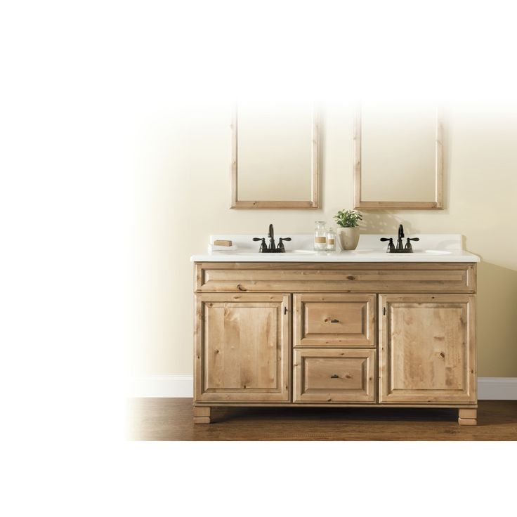 Shop Style Selections Collingwood Natural Traditional Bathroom Vanity (Common: 60-in x 21-in; Actual: 60-in x 21-in) at Lowes.com