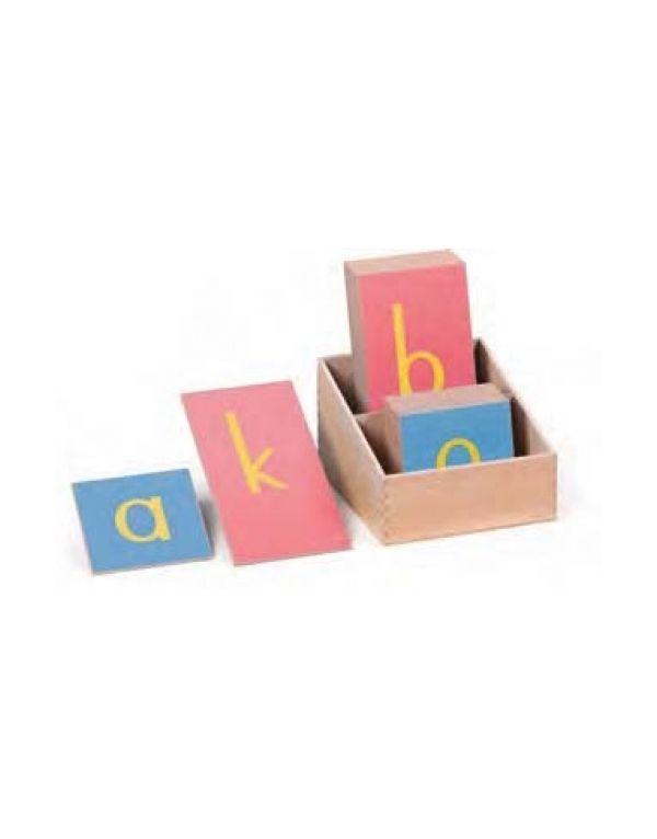 Letras lija minúscula imprenta