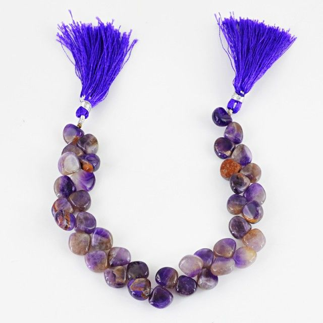 Genuine 198.05 Cts Purple Amethyst 8.5 Inches Beads Strand