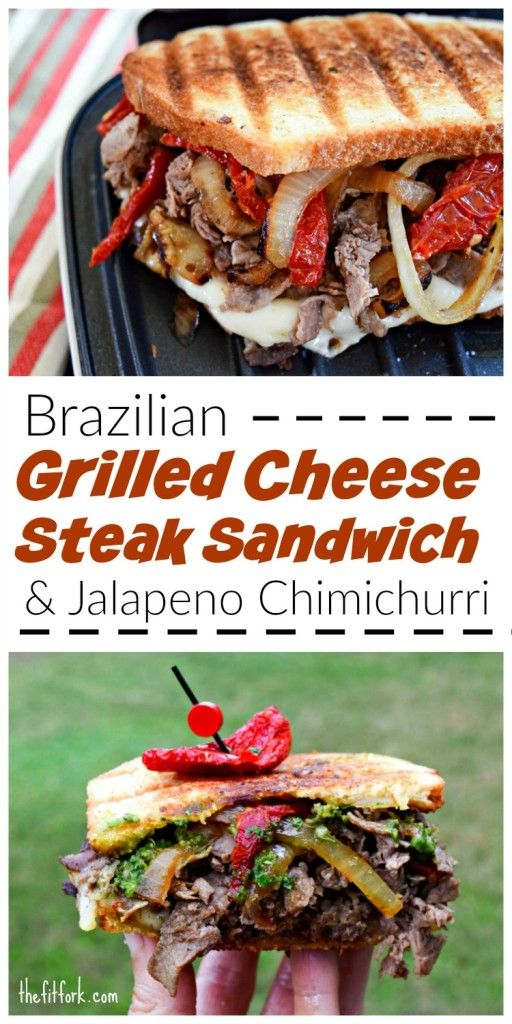 Brazilian Grilled Cheese Steak Sandwich with Jalapeno Chimichurri is a delicious lunch or dinner that they whole family will love.