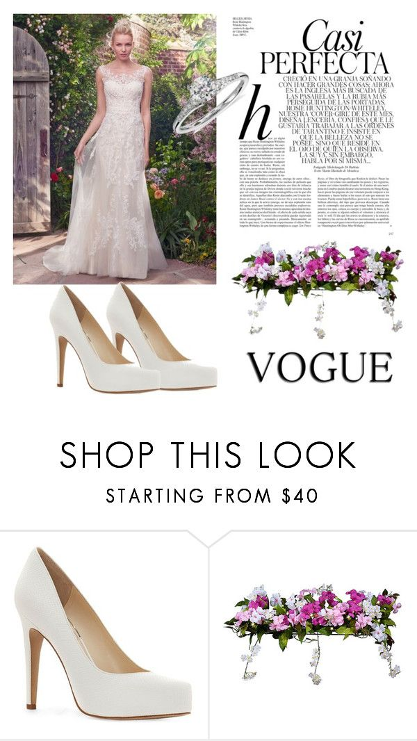 """Wedding Dress"" by dreamhigh426 on Polyvore featuring Maggie Sottero, Jessica Simpson, Whiteley, Improvements and Blue Nile"