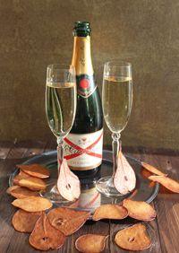 champagne et poires