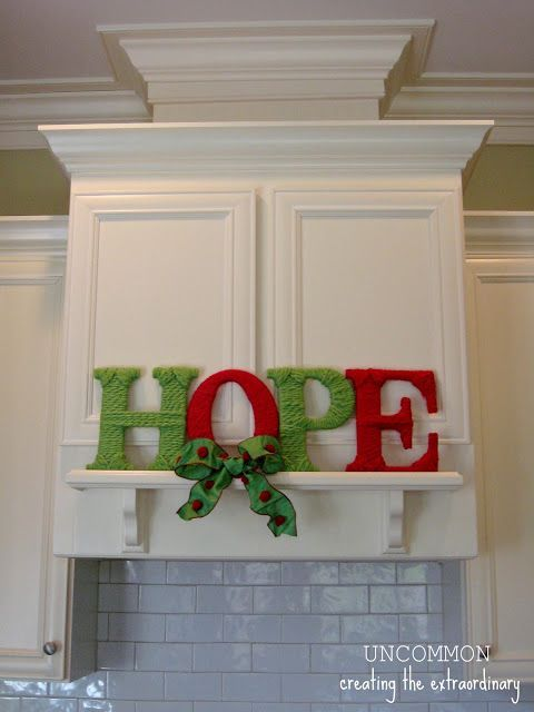 HOPE Yarn Letters... - Uncommon Designs...