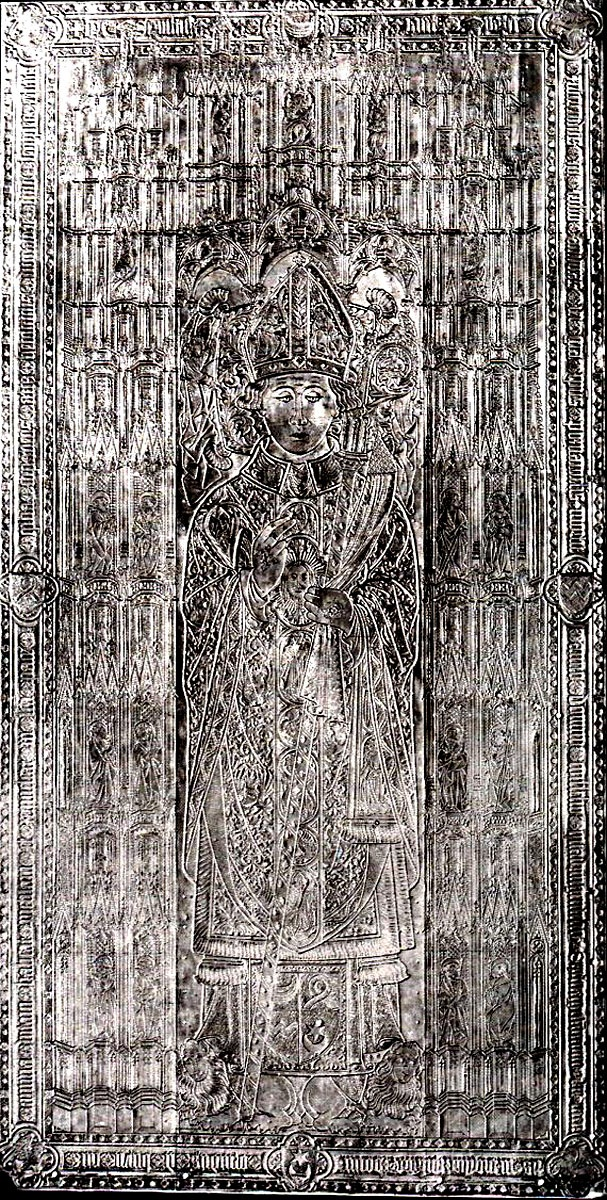 Andrzej z Bnina, biskup poznański, +1479; płyta z katedry poznańskiej