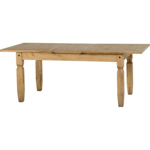 Corona Mexican Extending Dining Table Distressed Waxed Pine