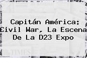http://tecnoautos.com/wp-content/uploads/imagenes/tendencias/thumbs/capitan-america-civil-war-la-escena-de-la-d23-expo.jpg Civil War. Capitán América: Civil War, la escena de la D23 Expo, Enlaces, Imágenes, Videos y Tweets - http://tecnoautos.com/actualidad/civil-war-capitan-america-civil-war-la-escena-de-la-d23-expo/