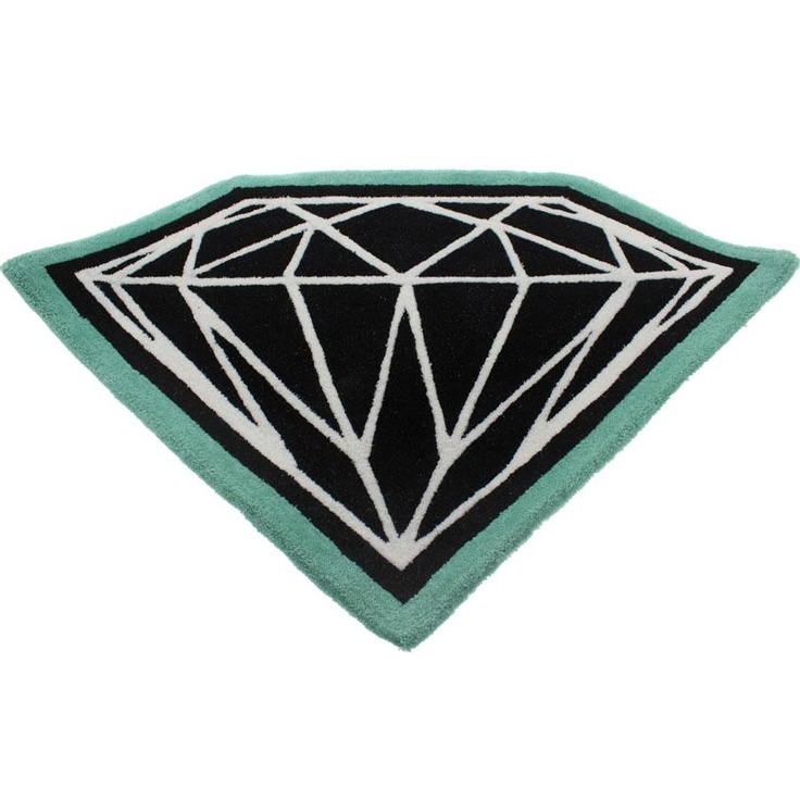 Diamond Supply Co Brilliant Door Mat Black