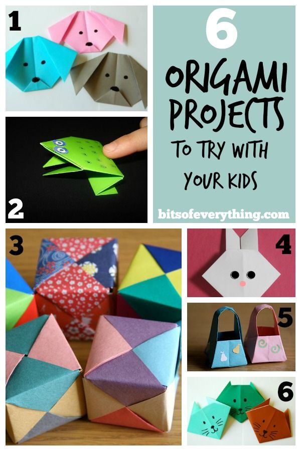 6 Fun Origami Projects to try with your kids! Bits of Everything.com #origami #kids