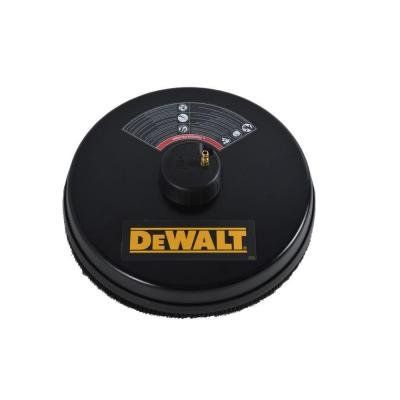 """Product review for 18"""" 3400 PSI Surface Cleaner with Quick Connect Plug. The DEWALT Surface Scrubber is used for cleaning garage floors, driveways, patios, decks, sidewalks and more. Its 18 in. Dia allows you to cut cleaning time in half on those big jobs. For use with cold water pressure washers rated up to 3400 psi, this unit features high-pressure jets that are..."""