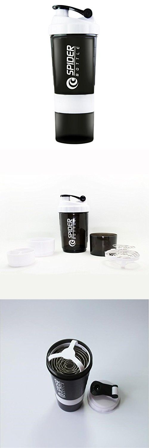 Protein Shaker Blender Mixer Cup Sports Fitness Gym 3 Layers Multifunction 500ML Bpa Free Shaker Bottle.