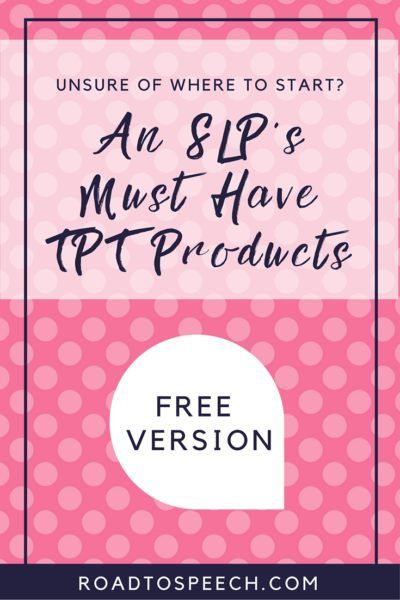 Looking for some great FREE TPT products? Check out this blog post for a list of a school SLP's favorite products for speech therapy.