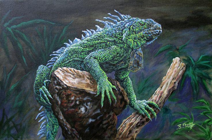 Iguana by ricardoafranco.deviantart.com on @DeviantArt