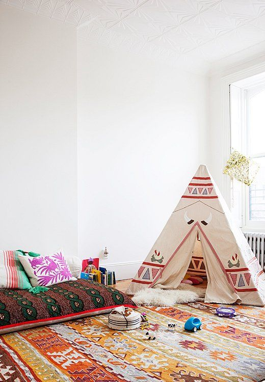 The perfect camp chic bedroom for a little girl!