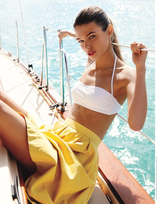 White  |  Yellow: Bikinis Tops, Summer Fashion, Summer Looks, Yellow Skirts, Summer Outfits, Sailing Away, Style Clothing, Summer Clothing, Yachts