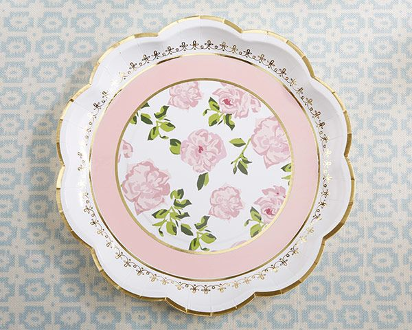 Kate Aspenu0027s Tea Time Paper Plates made from sturdy cardstock are sold in sets of 8  sc 1 st  Pinterest & 516 best Baby Shower Plates images on Pinterest | Paper plates Baby ...